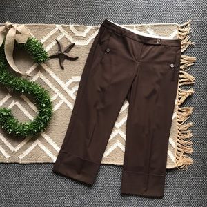 The Limited Drew Fit Brown Crop